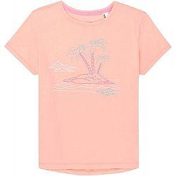 O'Neill LG S/SLV ISLAND T-SHIRT svetlo ružová 152 - Dievčenské tričko