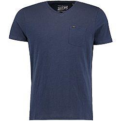 O'Neill LM JACKS BASE V-NECK T-SHIRT tmavo modrá XL - Pánske tričko