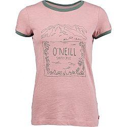 O'Neill LW AUDRA T-SHIRT ružová L - Dámske tričko