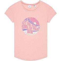O'Neill LW LET ME GET GRAPHIC  T-SHIRT ružová S - Dámske tričko