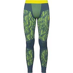 Odlo BL BOTTOM LONG BLACKCOMB tmavo zelená XL - Pánske funkčné nohavice