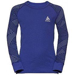 Odlo BL TOP CREW NECK L/S ACTIVE WARM TREND K sivá 140 - Detské tričko