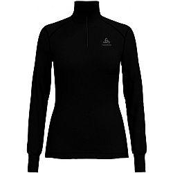 Odlo BL TOP TURTLE NECK L/S HALF ZIP ACTIVE W čierna XS - Dámske tričko