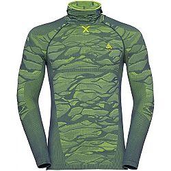 Odlo BL TOP WITH FACEMASK L/S BLACKCOMB tmavo zelená XL - Pánske tričko s integrovanou kuklou
