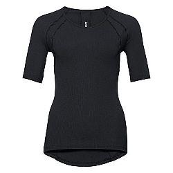 Odlo SHIRT 3/4 SLEEVE V-NECK PURE WOOL čierna S - Dámske tričko s 3/4 rukávom