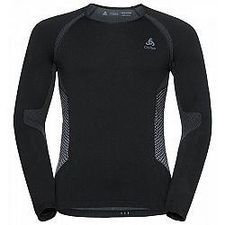 Odlo SHIRT L/S SEAMLESS WARM čierna S - Pánske funkčné tričko