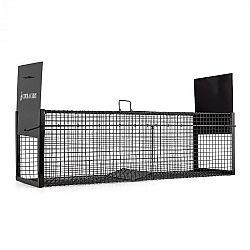OneConcept Catch & Carry XL, pasca na kuny, 31 x 31 x 104 cm, 2 mm oceľ, čierna