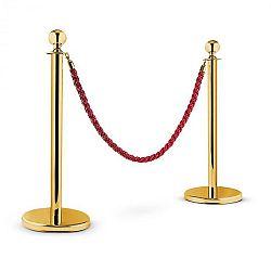 OneConcept Golden Gate, zlatá/červená, vodiaci systém osôb, dva oddeľovacie stĺpiky a jedno lano
