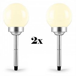 OneConcept LED-Flower 15, 2x záhradné svietidlo, solárna lampa, Ø 14 cm, 2 LED diódy, IP44, teplá biela