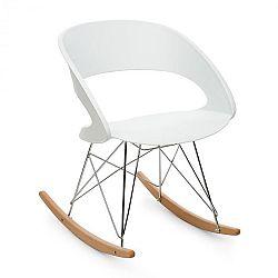 OneConcept Travolta, hojdacia stolička, retro, PP-konštrukcia sedacej časti, brezové drevo, biela farba
