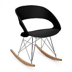 OneConcept Travolta, hojdacia stolička, retro, PP-konštrukcia sedacej časti, brezové drevo, čierna farba