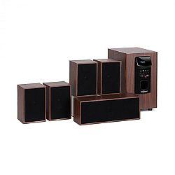 OneConcept Woodpecker, 5.1 zvukový systém, výstupný výkon 45 W RMS, drevený vzhľad