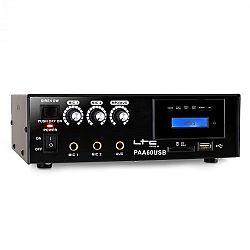 PA zosilňovač LTC PAA60USB, USB, MP3, mikrofón, 12 V
