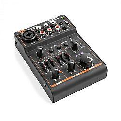 Power Dynamics PDM-D301BT, 3-kanálový mixážny pult, USB mixážny pult, bluetooth, fantómové napájanie