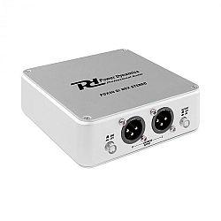 Power Dynamics PDX30, stereo DI box, symetrický XLR výstup, hliník