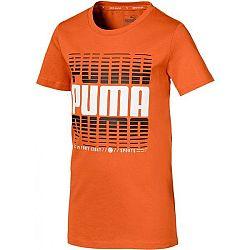 Puma ACTIVE SPORTS TEE B oranžová 152 - Chlapčenské športové tričko