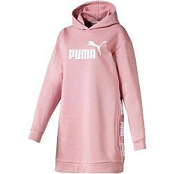 Puma AMPLIFIED DRESS FL ružová S - Dámska predĺžená mikina