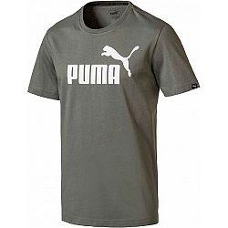 Puma ESS NO.1 TEE zelená S - Pánske tričko