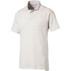 Puma FINAL CASUALS POLO biela S - Pánske polo tričko