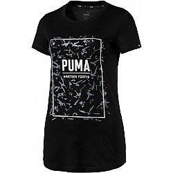 Puma FUSION GRAPHIC TEE čierna L - Dámske tričko