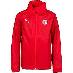 Puma LIGA TRG JKT JR SLAVIA červená 152 - Chlapčenská športová bunda
