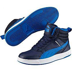 Puma REBOUND STREET V2 FUR JR modrá 6 - Detská zimná obuv
