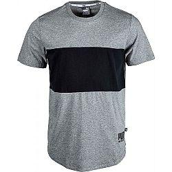 Puma RELAXED TEE šedá S - Pánske tričko
