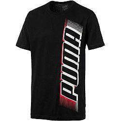 Puma SPEED PUMA TEE čierna XL - Pánske tričko s krátkym rukávom