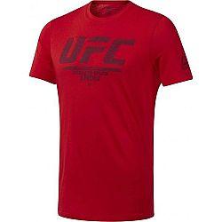 Reebok UFC FG LOGO TEE červená XL - Pánske tričko