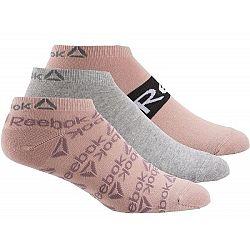 Reebok W FOUND GRPH SOCK 3P ružová 40-42 - Dámske športové ponožky