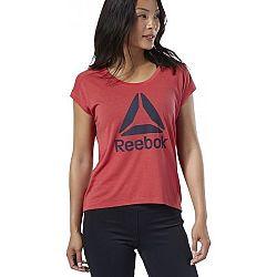 Reebok WOR SUPREMIUM 2.0 TEE BIG LOGO červená S - Dámske tričko