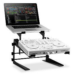 Resident DJ DJX-250 stojan na notebook a mixážny pult/controller, čierny
