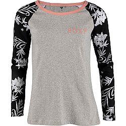 Roxy BEFORE I GO LS šedá M - Dámske tričko