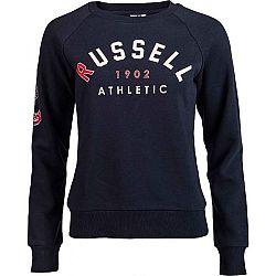 Russell Athletic BADGED-CREWNECK RAGLAN SWEATSHIRT tmavo modrá S - Dámska mikina