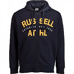 Russell Athletic HOODY SWEATSHIRT ESTABILISHED 1902 tmavo modrá XL - Pánska mikina
