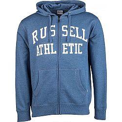 Russell Athletic PÁNSKA MIKINA HOODY modrá L - Pánska mikina