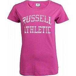 Russell Athletic S/S CREW NECK TEE SHIRT ružová M - Dámske tričko