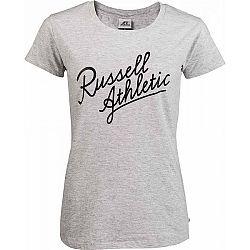 Russell Athletic S/S CREWNECK TEE SHIRT šedá S - Dámske tričko
