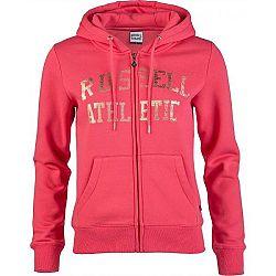 Russell Athletic ZIP THROUGH LOGO HOODY červená XS - Dámska mikina