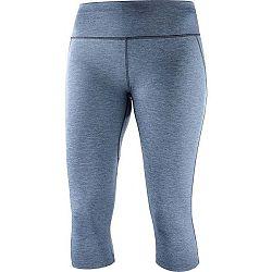 Salomon AGILE MID TIGHT W modrá S - Dámske bežecké nohavice
