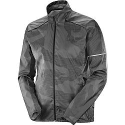 Salomon AGILE WIND tmavo šedá XL - Pánska bunda