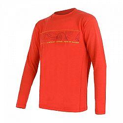 Sensor MERINO ACTIVE PT GPS oranžová XL - Pánske funkčné tričko