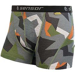Sensor MERINO IMPRESS hnedá L - Pánske šortky