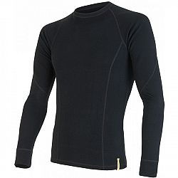 Sensor WOOL DR M čierna L - Pánske funkčné tričko