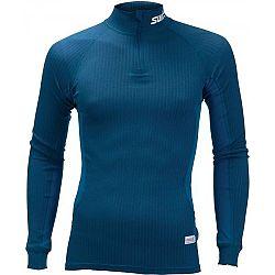 Swix RACEX tmavo modrá L - Funkčné tričko s dlhým rukávom a golierom