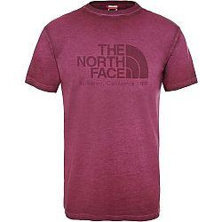 The North Face S/S WASHED BT-EU M vínová M - Pánske tričko