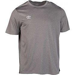 Umbro FW MARL CREW TRAINING JERSEY SMALL LOGO šedá XL - Pánske športové tričko