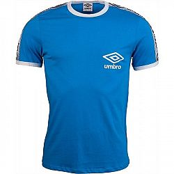 Umbro TAPED RINGER TEE modrá L - Pánske tričko