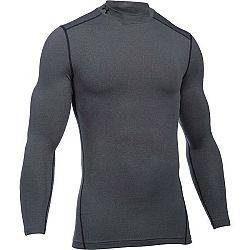 Under Armour CG ARMOUR MOCK tmavo šedá XL - Pánske kompresné tričko