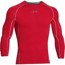 Under Armour HG ARMOUR LS červená M - Pánske kompresné tričko